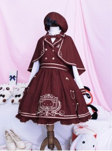 Royal College Style Lolita Plaid Dress Suit
