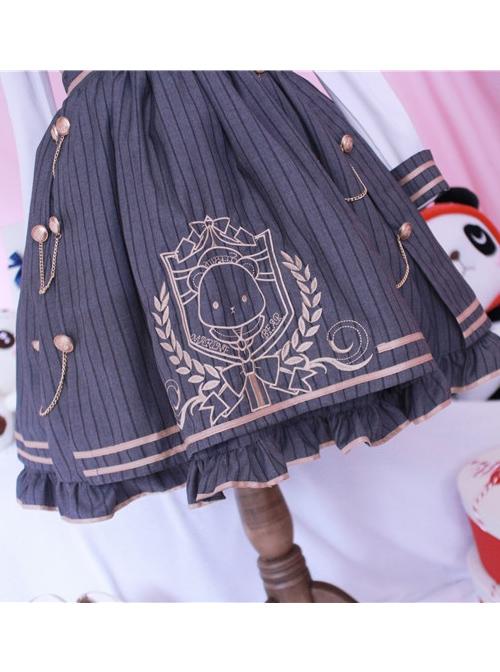 Royal College Style Lolita Plaid Dress Suit