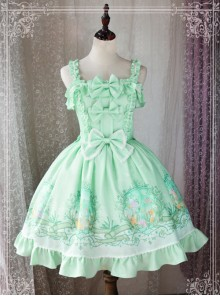 Magic Tea Party Wind's Child Series Bowknot Lolita Sling Dress