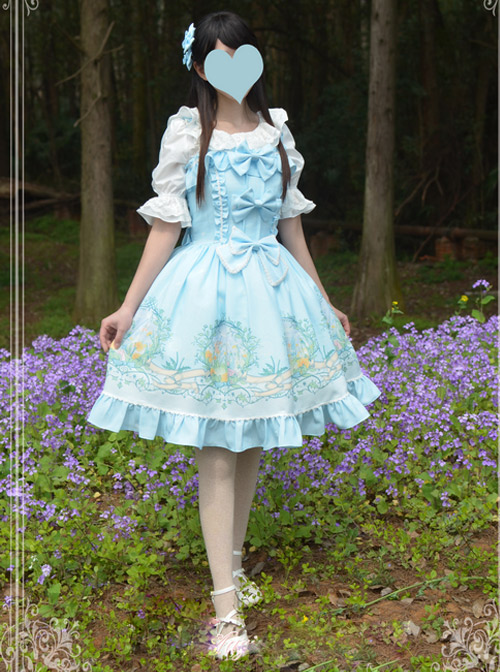 Magic Tea Party Wind's Child Series Bowknot Lolita Sling Dress