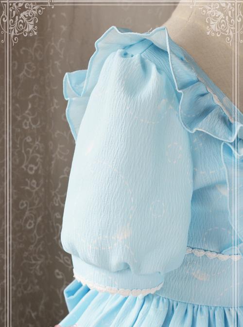 Magic Tea Party Wind's Child Series Bowknot Lolita Short Sleeve Dress