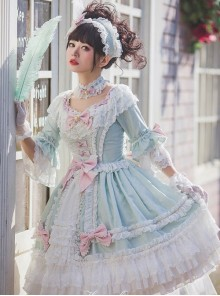 Light Green Classic Lolita Short Sleeve Dress