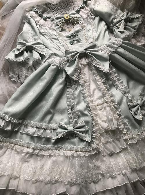 Light Green Classic Lolita Short Sleeve Dress