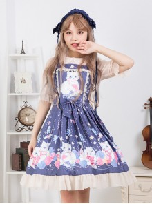 Cat And Wool Ball Series Sweet Lolita Sling Dress