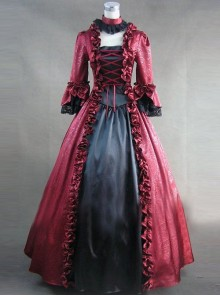 Retro Gorgeous Lolita Prom Long Sleeve Long Dress
