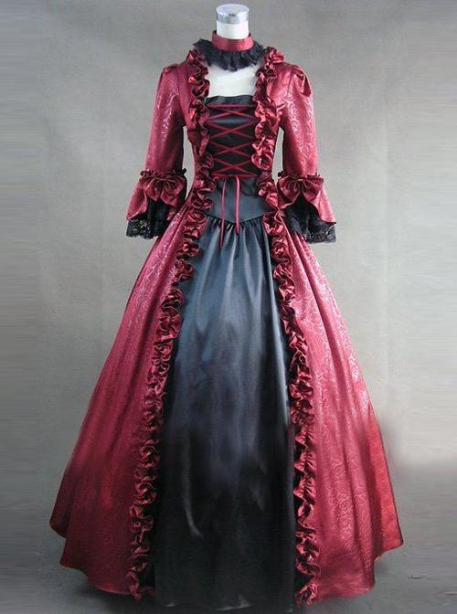 Retro Gorgeous Lolita Prom Long Sleeve Long Dress