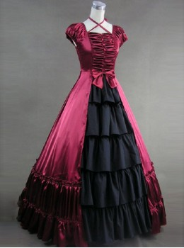 Hanging Neck Gothic Lolita Prom Bowknot Long Dress