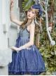Blue Gradient Starry Sky Classic Lolita Sling Dress