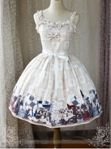 Magic Tea Party War Of Thrones Series Printing Classic Lolita Sling Dress Version 2