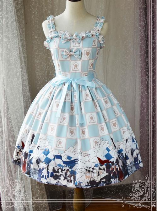 Magic Tea Party War Of Thrones Series Printing Classic Lolita Sling Dress Version 2