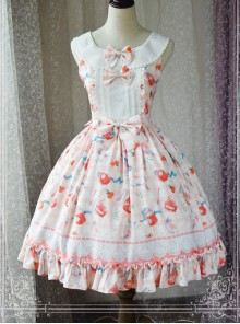 Magic Tea Party Kitty And Orange Sauce Series Classic Lolita Sleeveless Dress Version 1