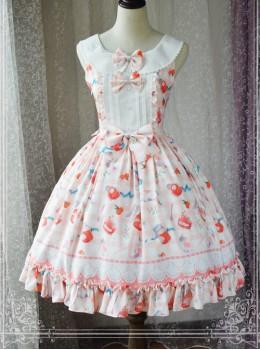 a6bc9bc7283 Magic Tea Party Kitty And Orange Sauce Series Classic Lolita Sleeveless  Dress Version 1