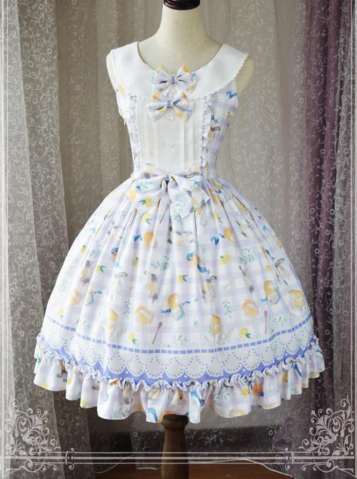 Magic Tea Party Kitty And Orange Sauce Series Classic Lolita Sleeveless Dress Version 1