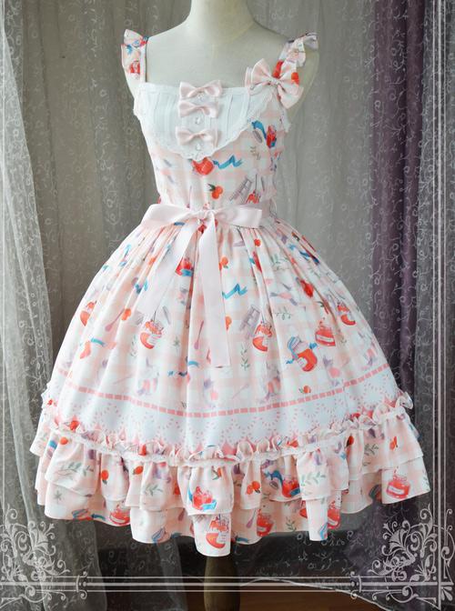 Magic Tea Party Kitty And Orange Sauce Series Classic Lolita Sling Dress Version 2