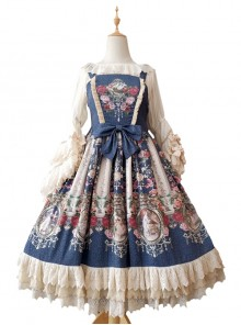 Royal Murals Series Classic Lolita Sling Dress