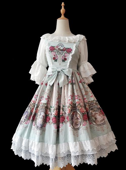 Royal Murals Series Classic Lolita Sling Dress