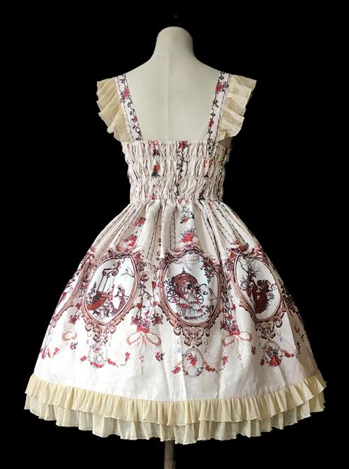 Cinderella Series Printing Classic Lolita Sling Dress