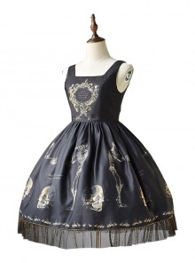 Retro Gothic Human-bone Lolita Sleeveless Dress