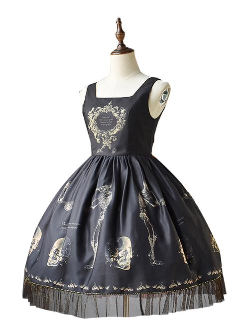 Retro Gothic Human-bone Lolita Sleeveless Dress