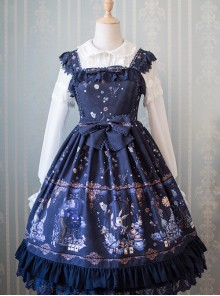 The Dreamland Of Alice Series Small High Waist Classic Lolita Sling Dress