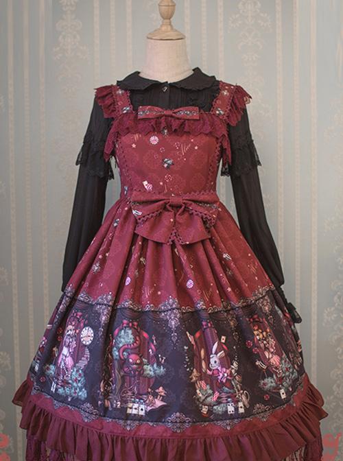 The Dreamland Of Alice Series Small High Waist Classic Lolita Sling Dress