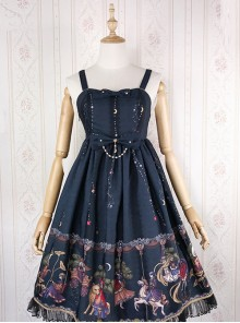 Fairy Tale World Amusement Park Series Little High Waist Classic Lolita Sling Dress