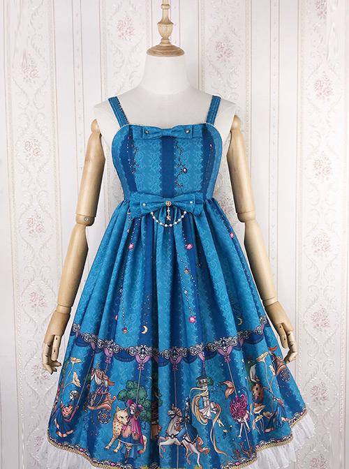 Fairy Tale World Amusement Park Series Little High Waist Classic Lolita Sling Dress