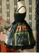 Magic Tea Party Black Spider Web Witch Castle Halloween Gothic Lolita Sling Dress