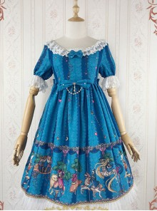 The Fairytale World Amusement Park Series OP Classic Lolita Short Sleeve Dress