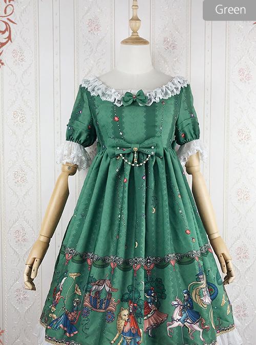 The Fairytale World Amusement Park Series OP Classic Lolita Short Sleeve Dress