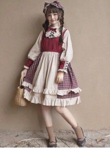 Christmas Strawberry Berry Series OP Classic Lolita Long Sleeve Dress