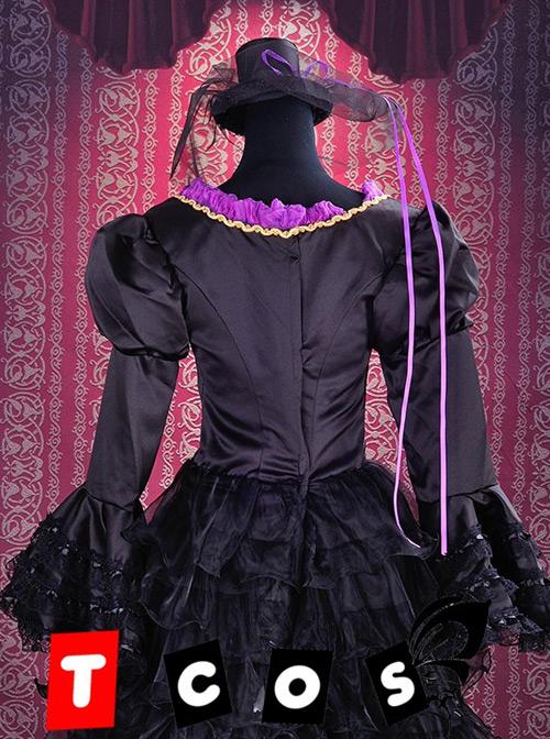 Vocaloid Miku Black Cosplay Lolita Dress And Hat Costume