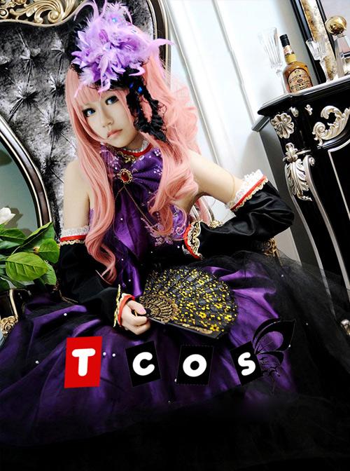 Vocaloid Miku Black And Purple Cosplay Lolita Dress Set Costume