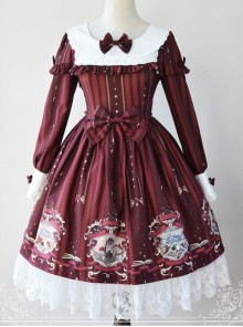 Magic Tea Party Bedtime Book Series OP Classic Lolita Long Sleeve Dress