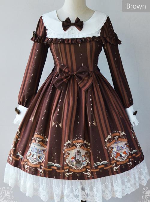 Magic Tea Party Bedtime Book Series OP Classic Lolita Long Sleeve Dress