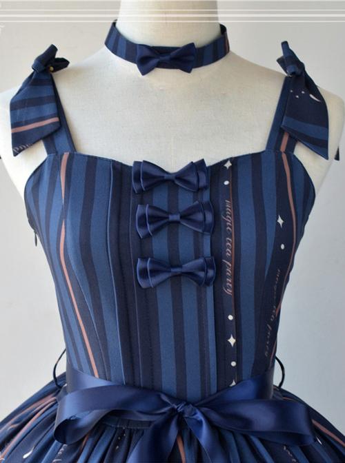 Magic Tea Party Bedtime Book Series Printing JSK Classic Lolita Sling Dress