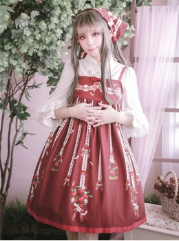 Small Apple Series JSK High Waist Classic Lolita Sling Dress