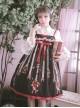 Small Apple Series JSK High Waist Classic Lolita Sling Dress
