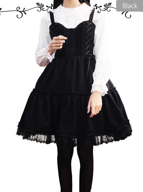 Waltz Series JSK Wine Red Elegant Classic Lolita Sling Dress