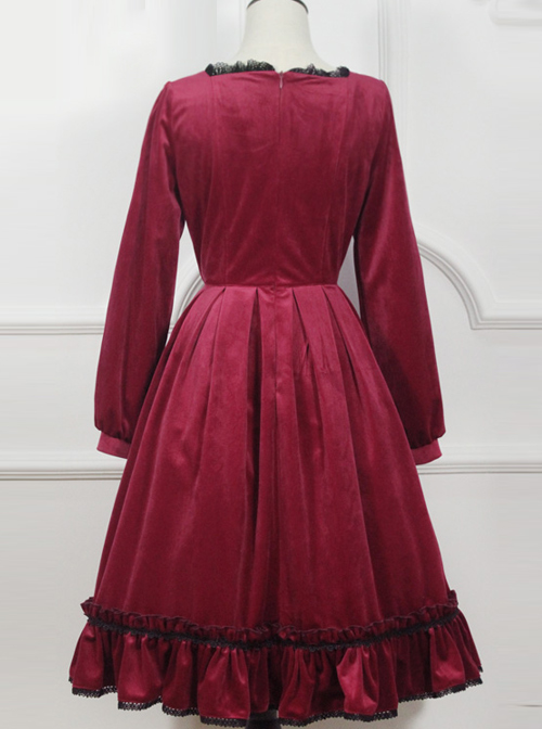 Little Red Riding Hood Series Retro Fairy Style OP Gothic Lolita Long Sleeve Dress
