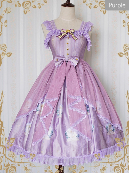*Little Angel That Singing The Blessing Poem* Classic Lolita JSK Lace Sling Dress