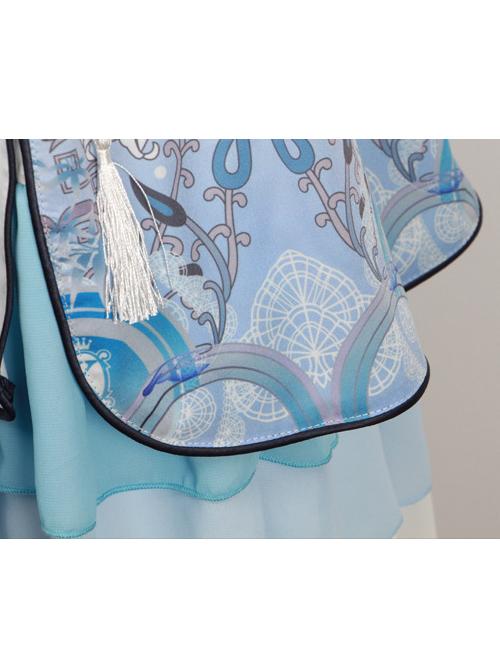 Tsing Lung White Tiger Series White Tiger Chinese Style Classic Qi Lolita Sleeveless Dress And Shawl Set