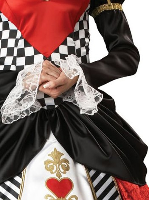 Halloween Christmas Hearts Queen Palace Style Ball Gown