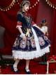 Fog-moon And Crown Series Court Style Elegance Classic Lolita OP Half Sleeve Dress Set