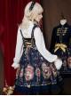 Fog-moon And Crown Series Court Style Elegance Classic Lolita JSK Bowknot Sling Dress