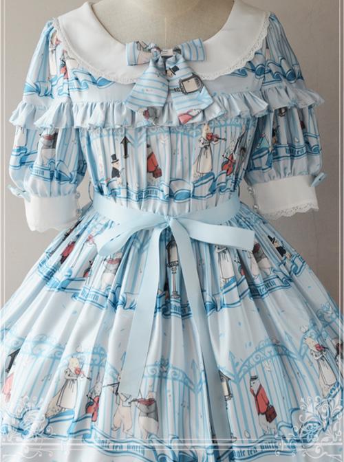 Magic Tea Party Wonderland Quartet Series OP Sweet Lolita Short Sleeve Dress
