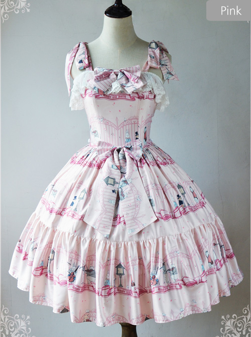 Magic Tea Party Wonderland Quartet Series JSK Sweet Lolita Sleeveless Dress