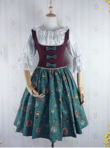 Strawberry Witch Mechanical Balloon Series JSK Punk Lolita Sling Dress