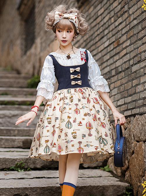 Strawberry Witch Mechanical Balloon Series JSK Punk Lolita Sling Dress