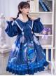 Nebula Whale Series OP Printing Classic Lolita Long Sleeve Dress